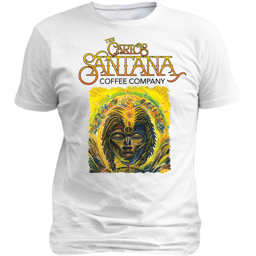 The Carlos Santana Coffee Company Global Consciousness Adult Poly Tee