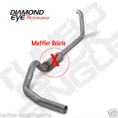 "DIAMOND EYE 4"" TURBO BACK EXHAUST 99-03 7.3L"