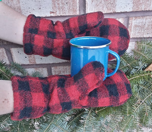 Polar Mitts - Red Plaid