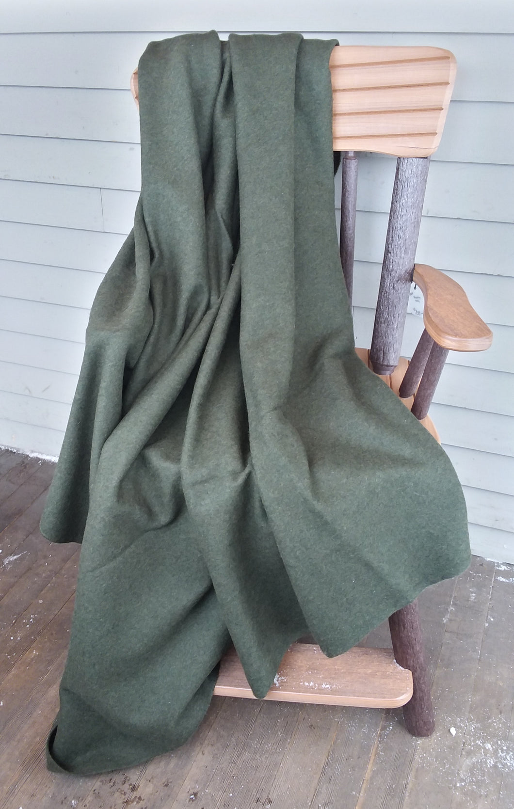 Wool Blanket - Olive Green