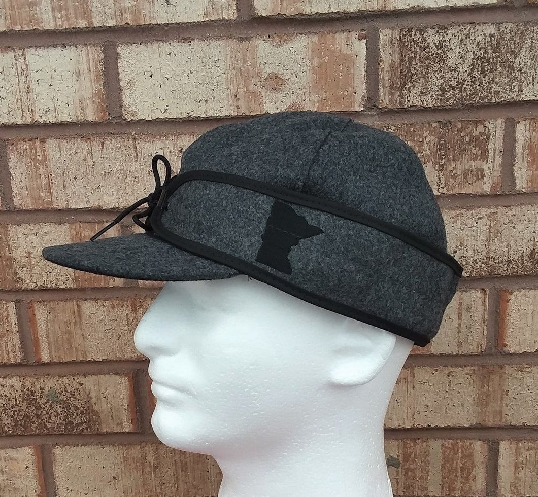 Minnesota Embroidered Stormy Kromer - Charcoal