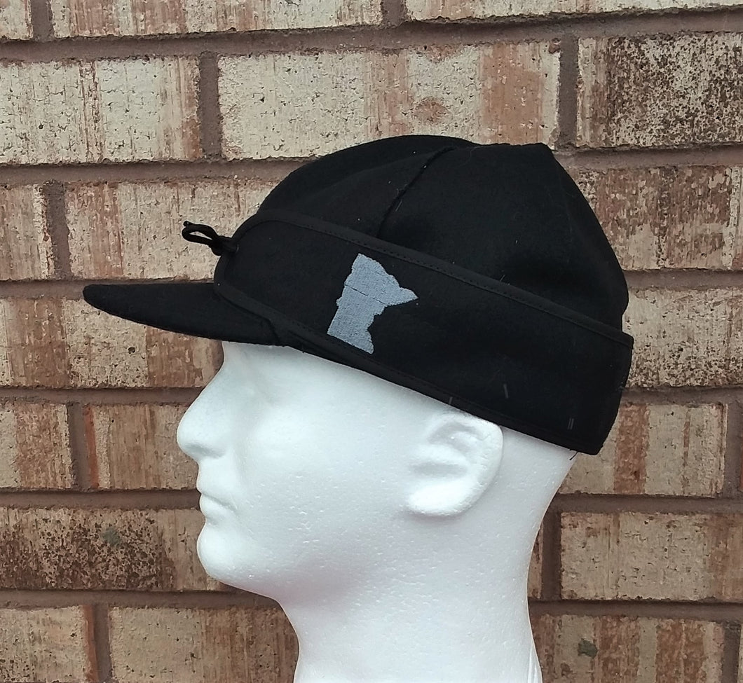 Minnesota Embroidered Stormy Kromer - Black