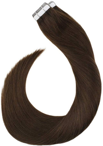 Medium Brown #4 Tape In Human Hair Extensions