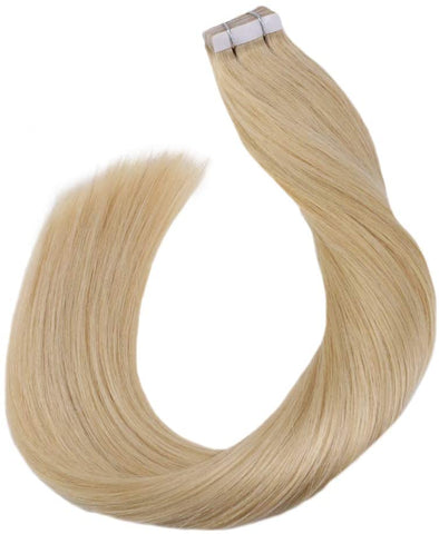 Natural Blonde #24 Tape In Human Hair Extensions