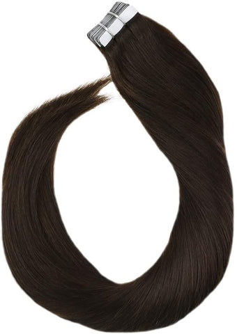 Dark Brown #2 Tape In Human Hair Extensions