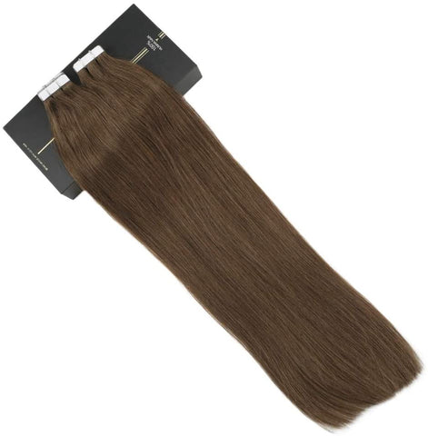 Light Brown #6 Tape In Human Hair Extensions