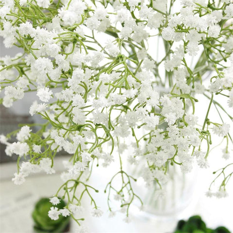 1PC DIY Artificial baby's breath Flower Gypsophila Fake Silicone plant for Wedding Home Hotel Party Decorations 3 Colors