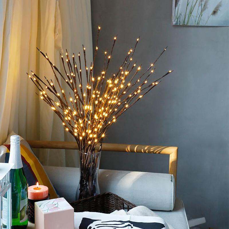 Lamp Willow Branch Warm Floral Lights