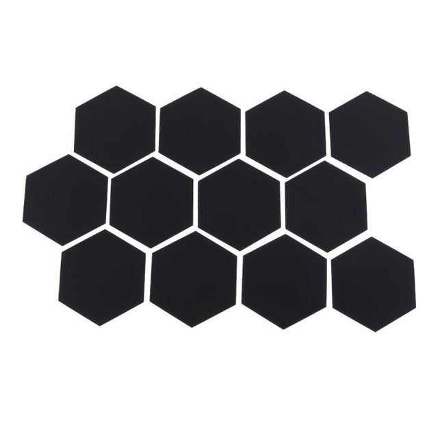 12Pcs 3D Hexagon Acrylic Mirror Wall Stickers DIY Art Wall Decor Stickers Home Decor Living Room Mirrored Decorative Sticker