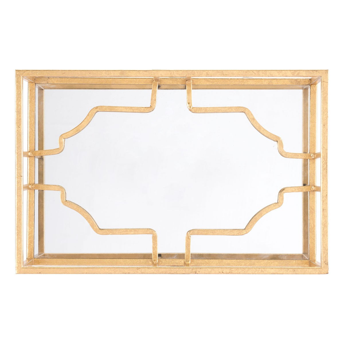 Cube wall decor gold