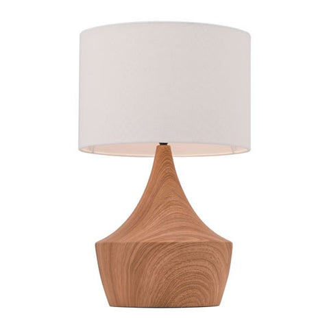 Table Lamp White & Brown