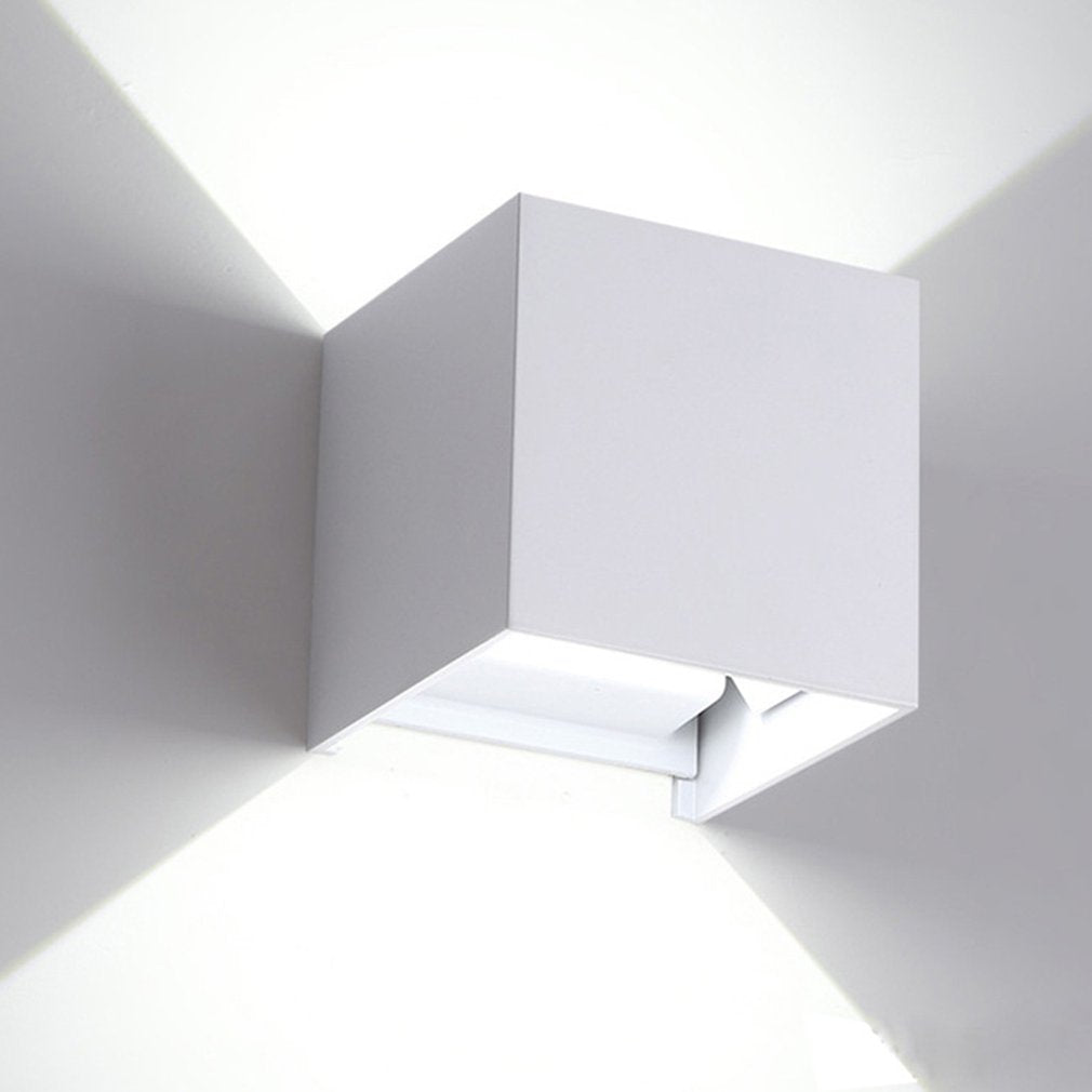 7W LED Cube Wall Lamp Waterproof Outdoor Light Aluminum Up & Down Light Adjustable Angle Indoor Outdoor Wall Light