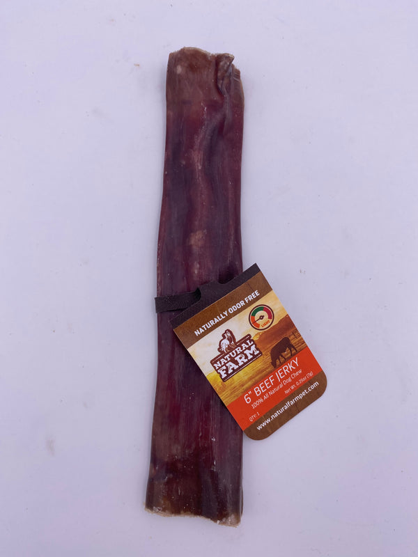 "Natural Farm Pet 6"" Beef Gullet Stick"