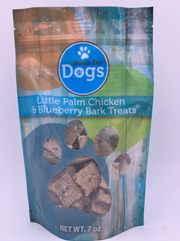Little Palm Chicken & Blueberry Bark Treats