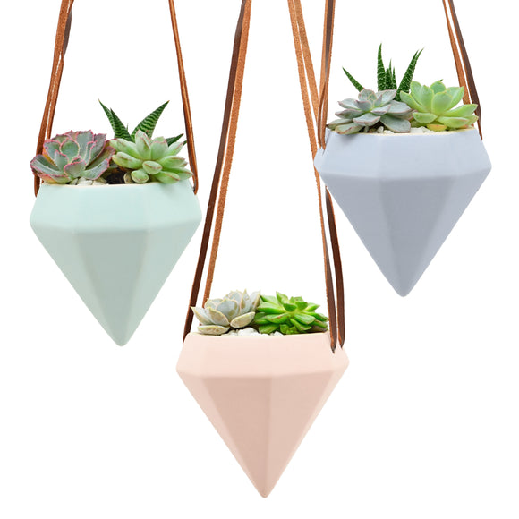 Diamond Air Planters, Pastel Series