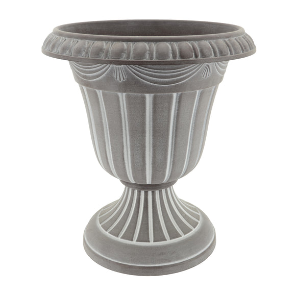 Whitewashed Plastic Urn
