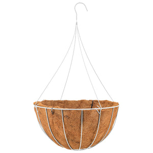 Hanging Coconut Grow Basket, White