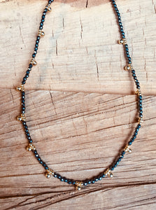 Hematite with vermeil necklace