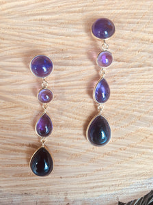 """Multi drop""amethyst earring"