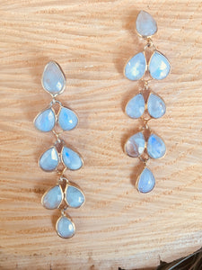 Petal shaped drop earrings