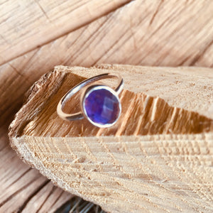 "Blue Chalcedony ""one stone"" ring"