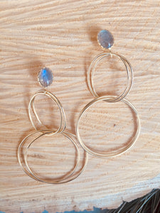 """Rings galore"" earring"