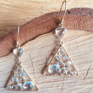 """Mozaic"" triangle shaped earrings"