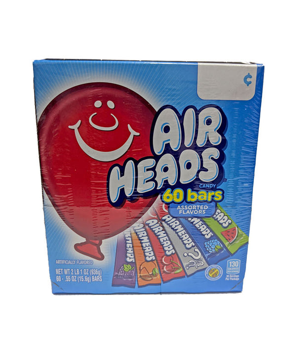 Airheads .55oz Bar 60 Count Box Assorted