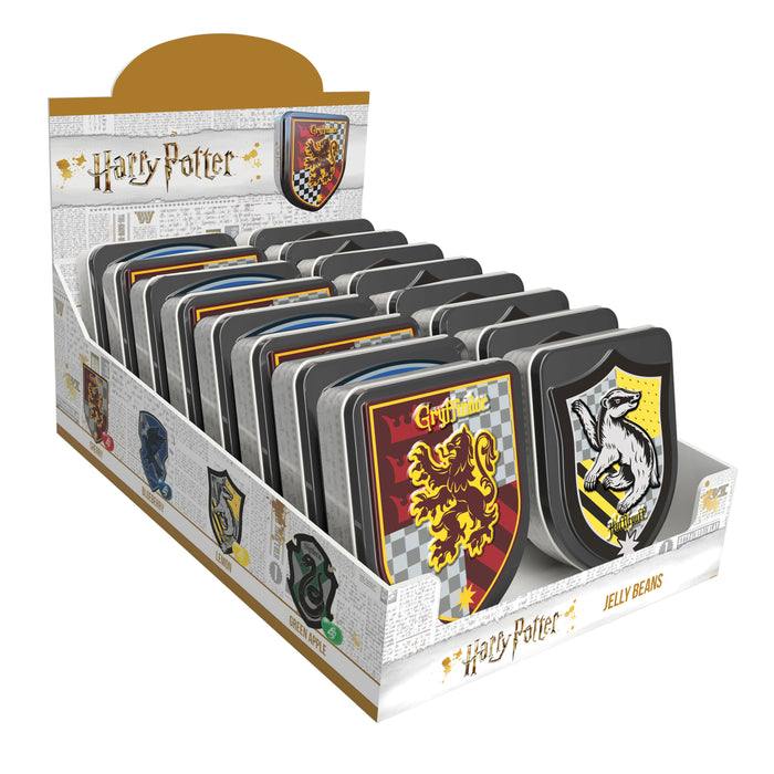 Jelly Belly Harry Potter Crest 1oz Tin or 12 Count Box
