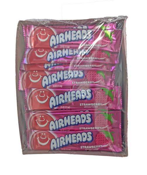 Airheads Strawberry .55oz Bar or 36 Count Box