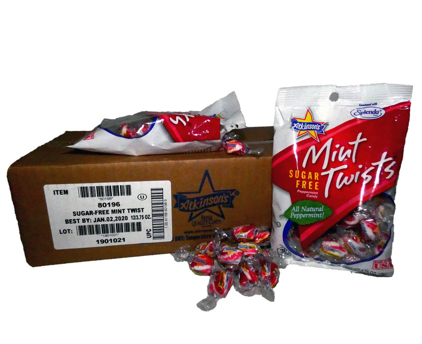 Mint Twist Sugar Free 3.75oz Bag or 12 Count Box