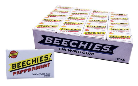 Beechies Peppermint Gum 2pk 100 Count Box