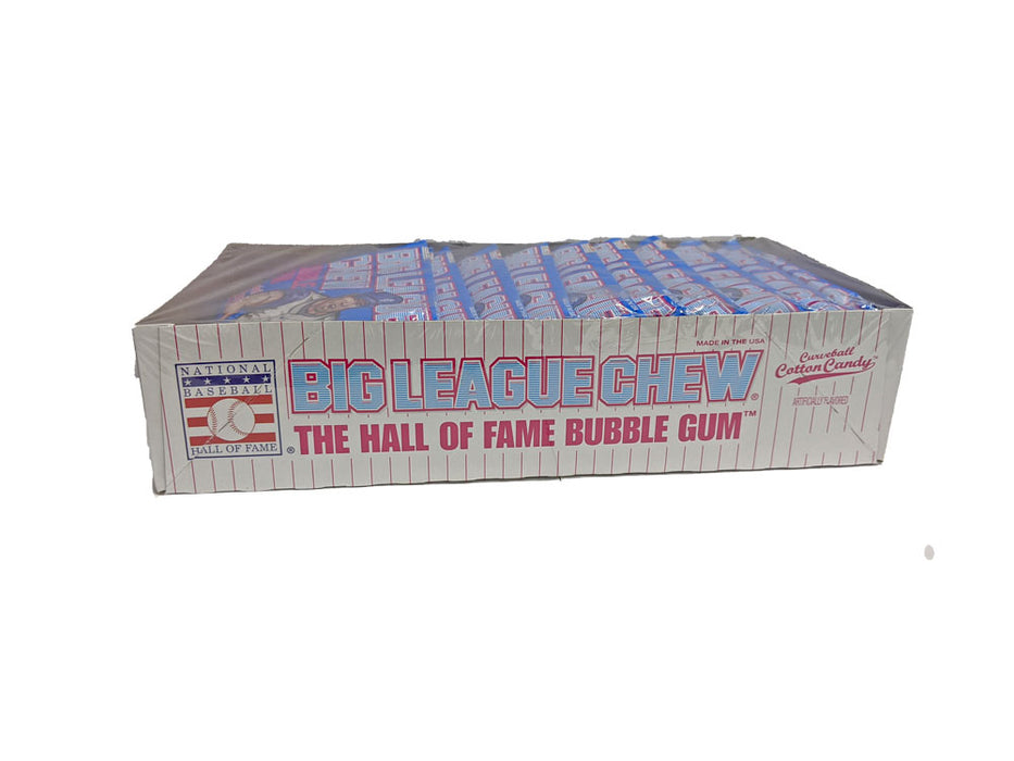 Big League Chew Curveball Cotton Candy Gum 2.12oz Pack or 12 Count Box