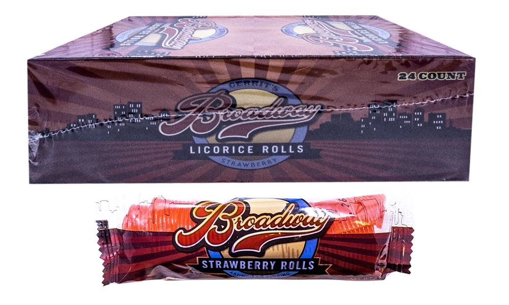 Broadway Strawberry Licroice 2oz Roll or 24 Count Box