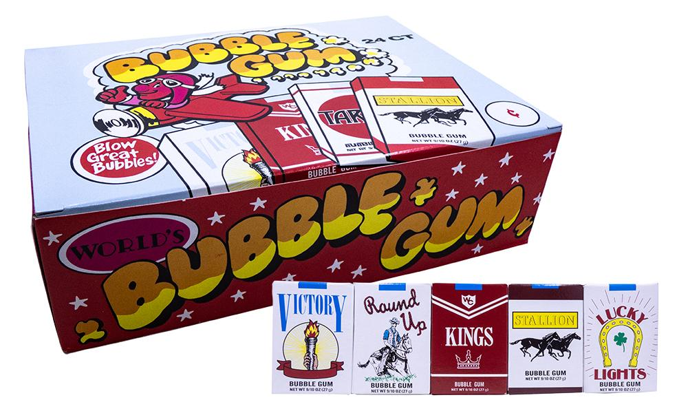Bubble Gum Cigarettes .9oz Pack or 24 Count Box