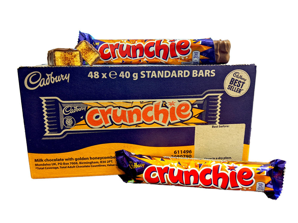 Cadbury Crunchie 1.4oz Bar or 48 Count Box