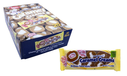 Caramel Creams 1.9oz Candy Bar 20 Count Box