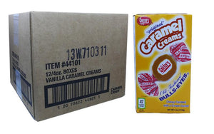 Caramel Creams 3oz Theater Box 12 Count Case