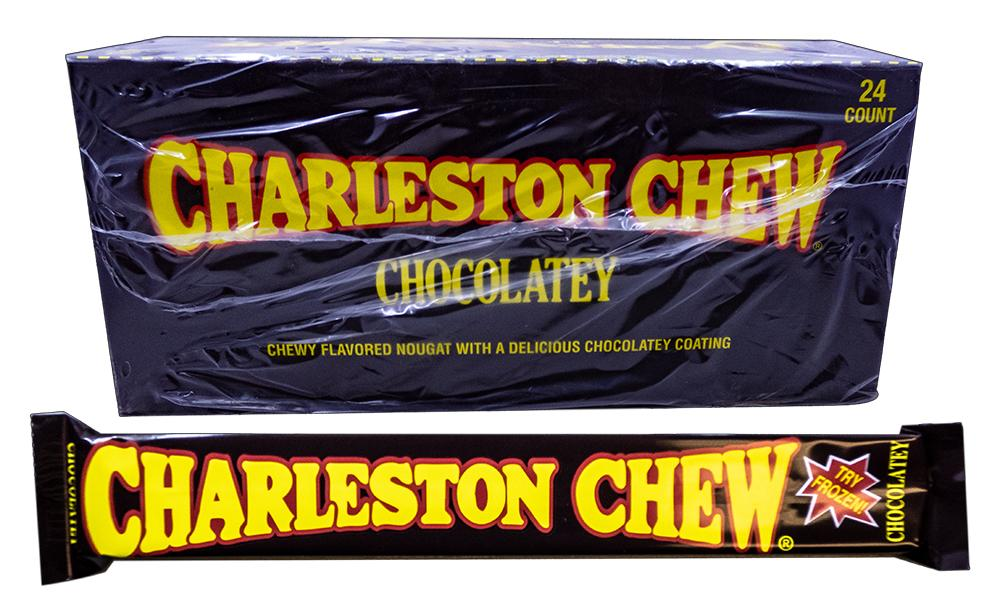 Charleston Chew Chocolate 1.875oz Bar or 24 Count Box