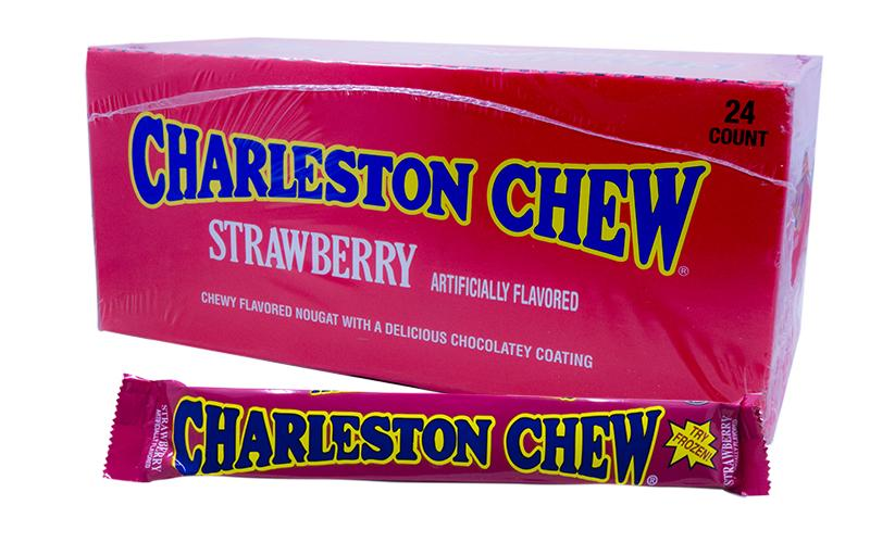 Charleston Chew Strawberry 1.875oz Bar or 24 Count Box