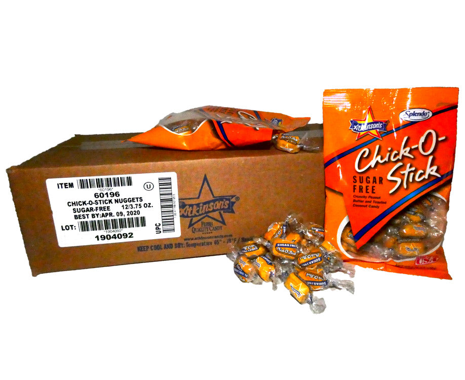 Chick O Stick Sugar Free 3.75 oz Bag 12 Count Box