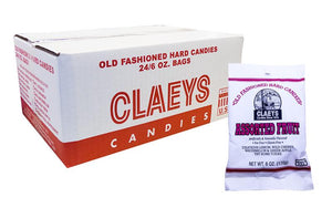 Claeys Candy 6oz Bag Assorted Flavors 24 Count Box