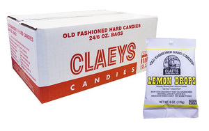 Claeys Candy 6oz Bag Lemon 24 Count Box