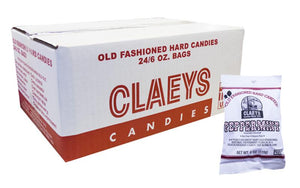 Claeys Candy Natural Peppermint 6oz Bag or 24 Count Box
