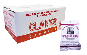 Claeys Candy Wild Cherry 6oz Bag or 24 Count Bag