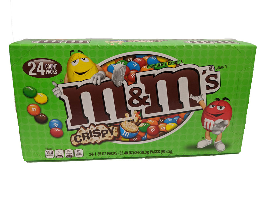 M & M Milk Chocolate Crispy 1.35oz Bag or 24 Count Box