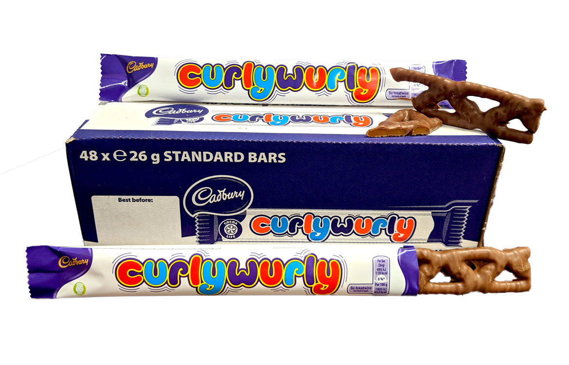 Cadbury Curly Wurly 1.4oz Bar or 48 Count Box