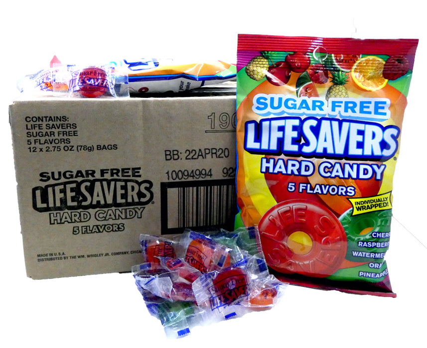 Life Savers Sugar Free Five Flavor 2.75oz Bag or 12 Count Box Discontinued
