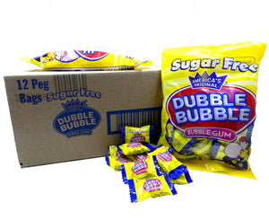 Dubble Bubble Gum Sugar Free 3.25oz Bag or 12 Count Box