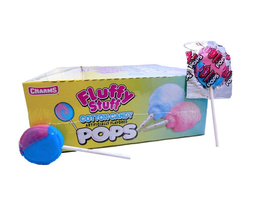 Charms Cotton Candy .625oz Pop 48 Count Box